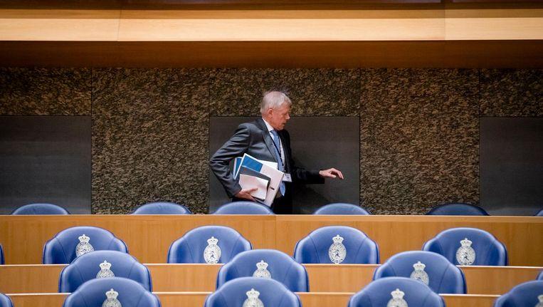 Rob Bertholee, directeur van de AIVD, tijdens het debat in de Tweede Kamer over de Wet Inlichtingen- en Veiligheidsdienst, de zogenaamde aftapwet. Beeld anp