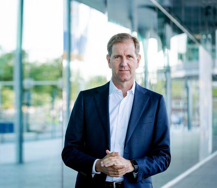 Een portret van Wiebe Draijer, bestuursvoorzitter van de Rabobank. Beeld Robin van Lonkhuijsen / ANP