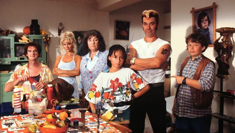 Archieffoto van de cast van de televisieserie Flodder. Foto ANP Beeld