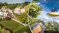 VIDEO. Robin maakt van zijn huis Bobbejaanland met 20 meter lange glijbaan van zijn dak tot aan de Leie