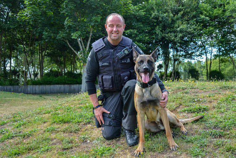 Björn De Waele geniet met volle teugen van zijn nieuwe politiehond Diesel, al blijft het verdriet om Drago en Blue groot.