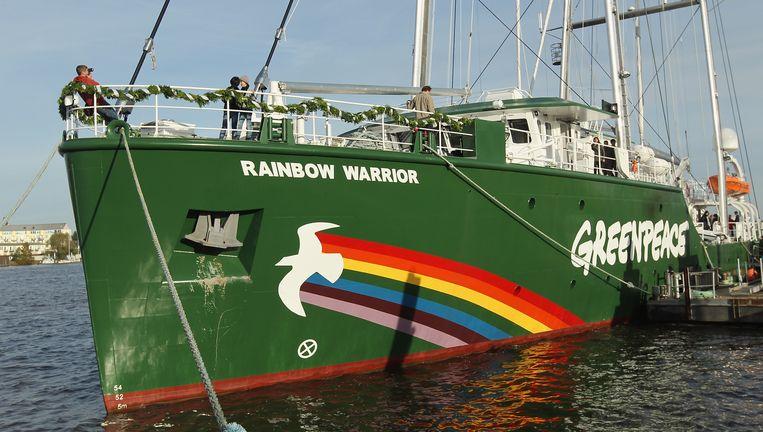 Het Greenpeace-schip de Rainbow Warrior Beeld Getty Images