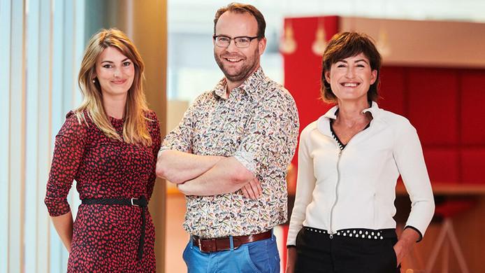 Roland van Kimmenade, cardioloog bij Radboudumc en verpleegkundig specialisten Lisette Baltussen en Marjolein Verdijk.