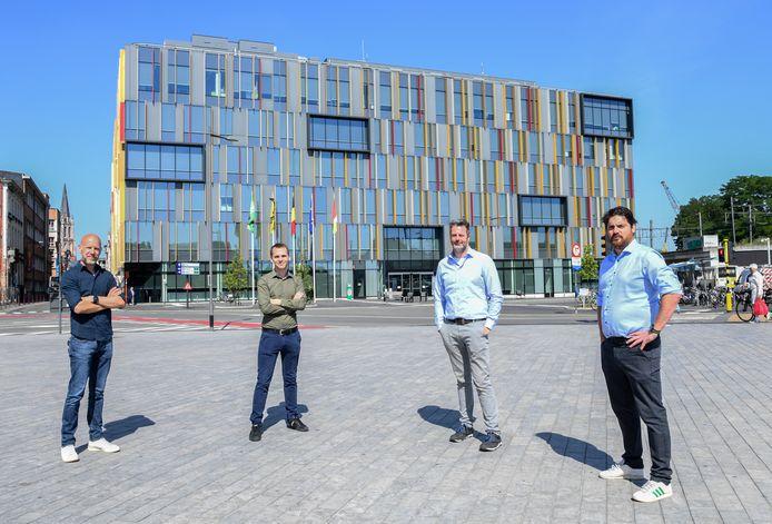 Bartel Van Herreweghe, Inti De Ceukelaire, Stijn Jans en Koen Heyns van Intigriti.