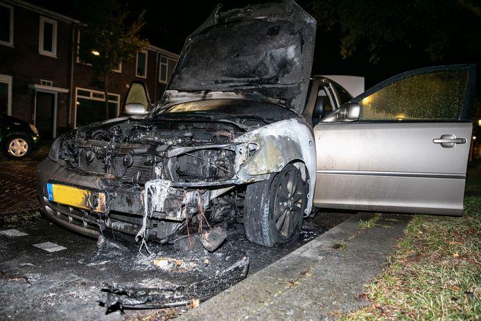 De auto raakte total loss.