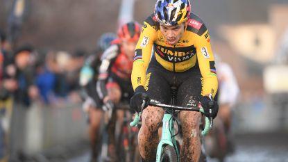 Ook Wout van Aert aan de start van de cyclocross in Gullegem