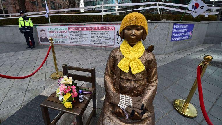 Het monument in Seoul. Beeld afp