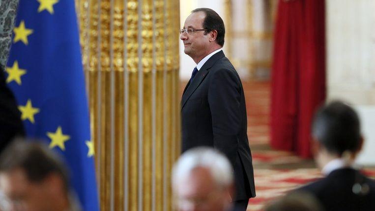 De Franse president Francois Hollande Beeld afp