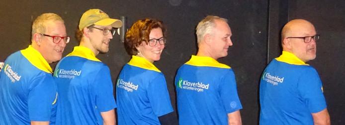 Het projectteam met v.l.n.r. Casper Dollekamp, Rick Driezen, Inge Soeters, Korstiaan de Boer en Huyb Stegeman.