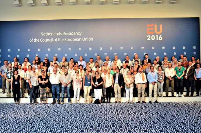 Een uitstapje van de KOS naar de EU-top in 2016 Archieffoto KOS