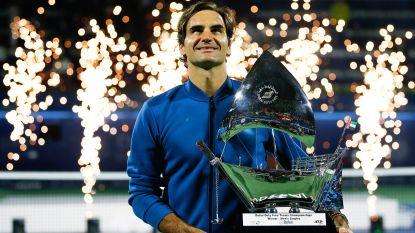 Nummer 100 voor Federer