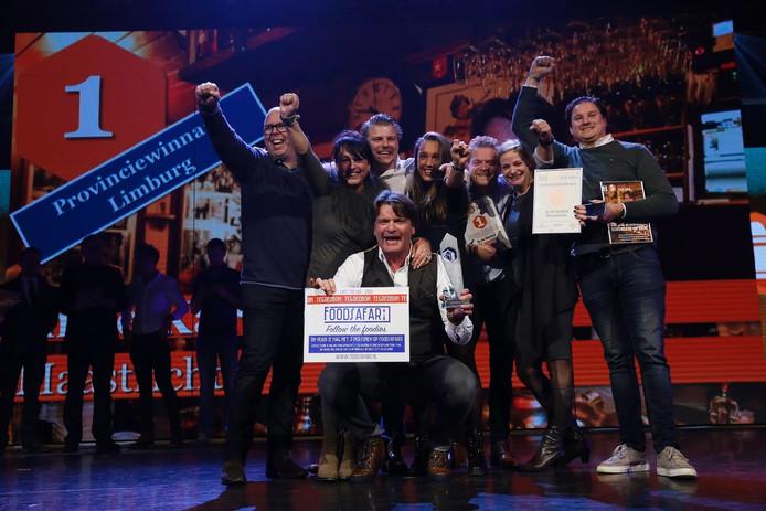 De Maastrichtse winnaars van de Horeca Top 100 zijn blij.