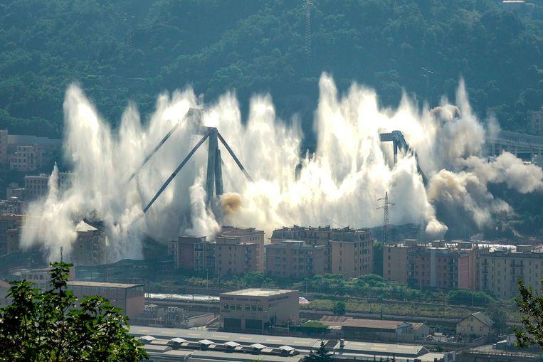 De restanten werden op 28 juni 2019 gecontroleerd opgeblazen.