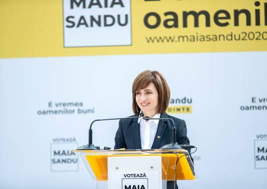 L'ex-Première ministre moldave, Maia Sandu, est considérée comme plus pro-européenne