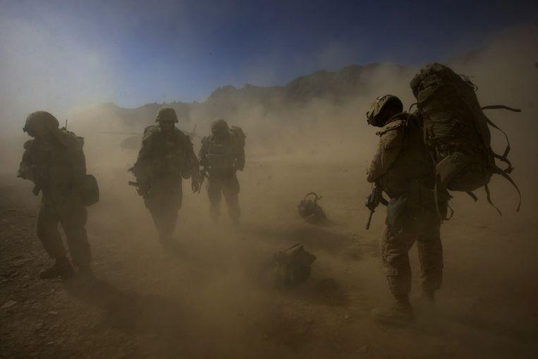 Archieffoto: militairen in de Afghaanse provincie Farah.