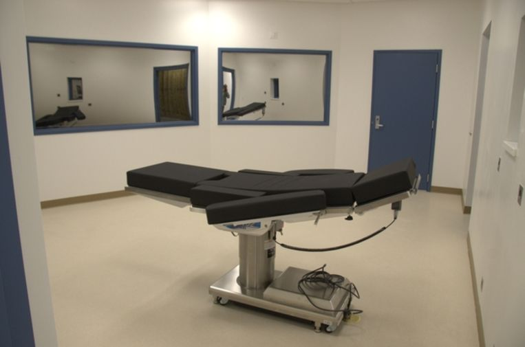 De executiekamer in Ely State Prison in Nevada.