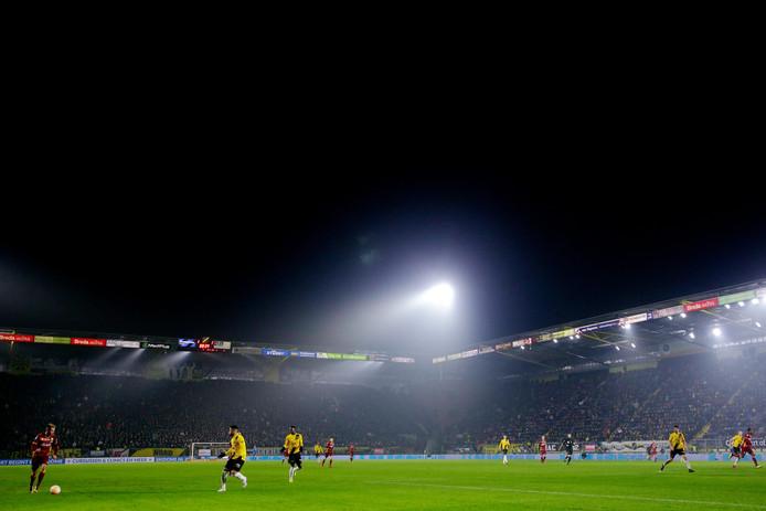 Het Rat Verlegh Stadion tijdens het duel tussen NAC en ADO Den Haag.