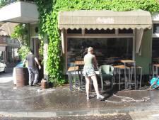 Grote schoonmaak bij Arnhems restaurant na eier- en poederregen