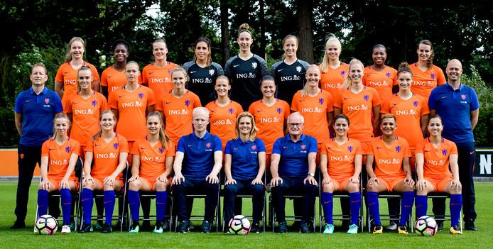 De selectie van het Nederlands vrouwenelftal