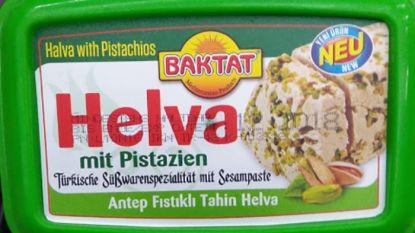 Product 'Helva met pistaches' uit verkoop gehaald