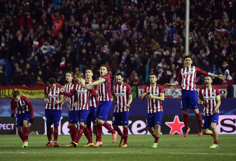 Atlético viert feest. Beeld afp