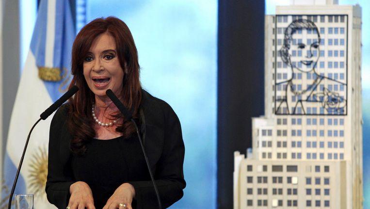 De Argentijnse presidente Cristina Fernández de Kirchner. Beeld REUTERS