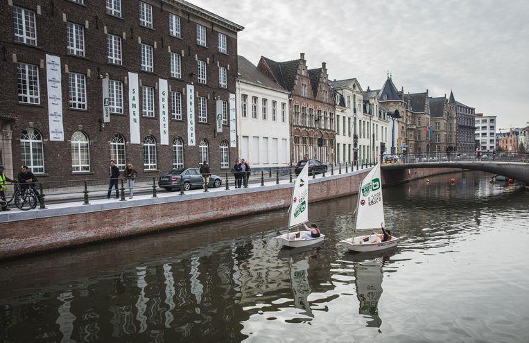 De zeilbootjes van Sint-Bavo op de Reep.