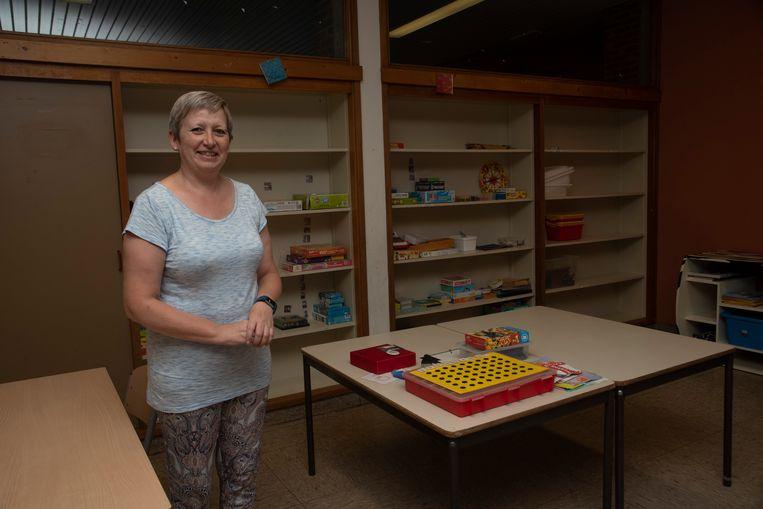 Directrice Inge Thomas in de vernieuwde lokalen voor het Dalton onderwijs in Merelbeke.