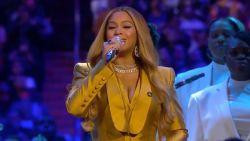IN BEELD. Emotioneel en muzikaal afscheid van Kobe Bryant met onder meer Beyoncé en Alicia Keys