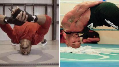 Halsbrekende toeren krijgen nieuw leven: Britse kolos bootst Mike Tyson na, bokslegende hield er nekomtrek van 50 (!) centimeter aan over