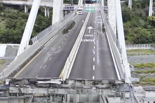 De Genua brugramp in Italië