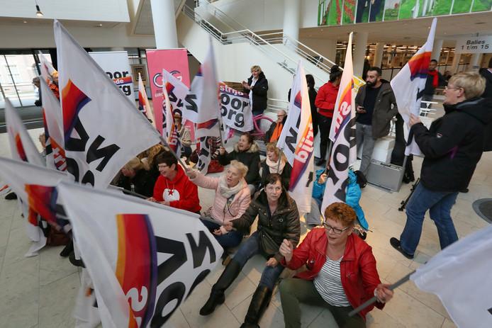 Beeld van een eerder protest door medewerkers van Vérian.