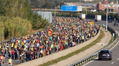 Duizenden Catalanen op weg naar Barcelona in driedaagse 'vrijheidsmarsen'