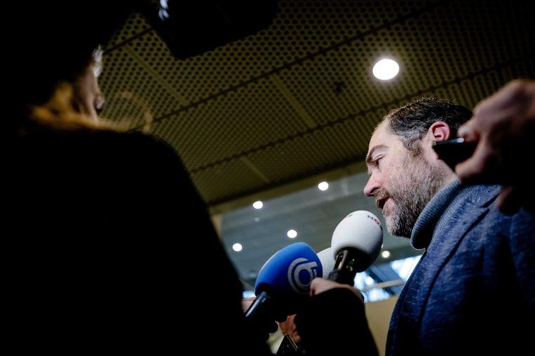 Klaas Dijkhoff (VVD) in de wandelgangen van de Tweede Kamer.  Beeld ANP