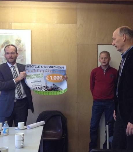Voedselbank Montferland krijgt cheque van 1.000 euro