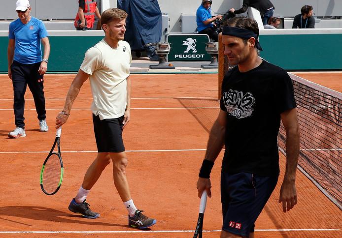 David Goffin, qui s'est entraîné avec Roger Federer cette semaine, pourrait affronter Rafael Nadal au troisième tour de Roland-Garros.