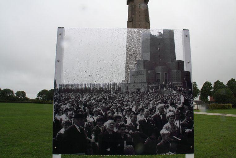 De IJzerbedevaart is al lang geen massabijeenkomst meer zoals op deze archieffoto.