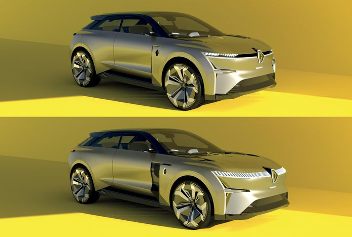 Via een app die aan de auto is gekoppeld kun je de Renault Morphoz laten groeien van 4,40 naar 4,80 meter.