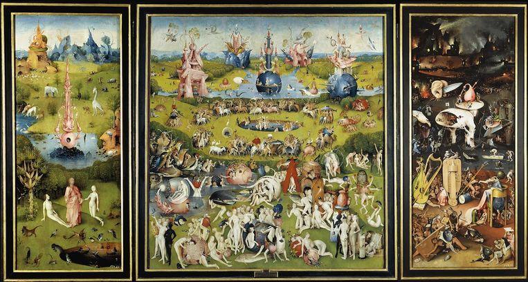 Jheronymus Bosch - 'De Tuin der lusten'. Beeld null