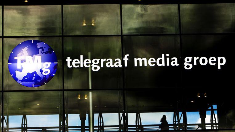 Gevel van de Telegraaf Media Groep. HMC is een dochterbedrijf van de Telegraaf Media Groep. Beeld anp