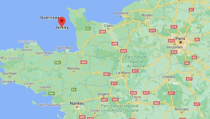 Kanaaleiland Jersey ligt voor de kust van Normandië.