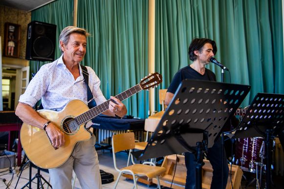 Willy en Mauro tijdens de repetities