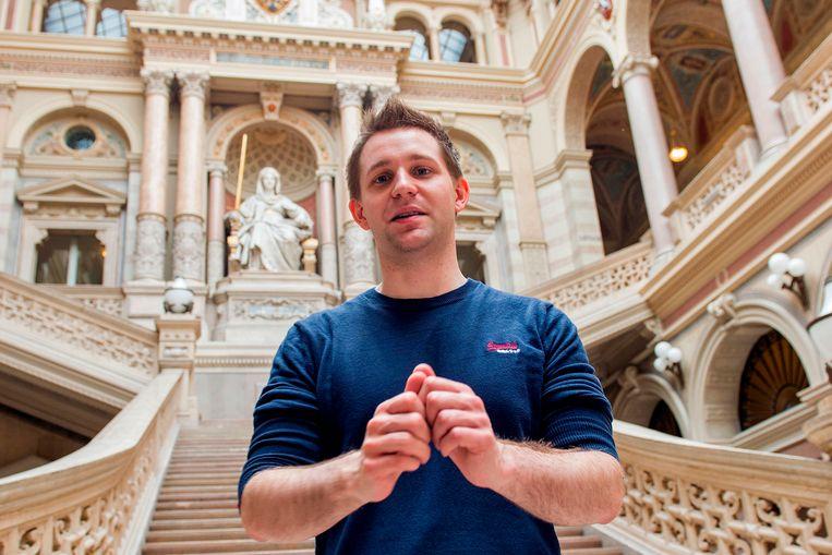 De 32-jarige Max Schrems, advocaat en privacy-activist, diende in 2013 een klacht in tegen Facebook bij de Ierse Autoriteit Persoonsgegevens. Beeld AFP