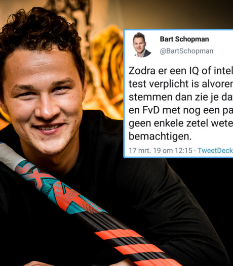 Woede na 'IQ-tweet' van VVD-raadslid uit Lelystad: 'Hoe zielig ben je?'