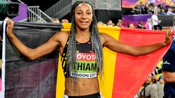 Wereldkampioene Nafi Thiam is aangekomen in België