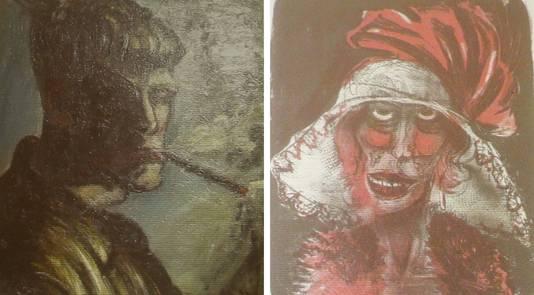 Twee werken van Otto Dix zouden deel uitmaken van de kunstschat.