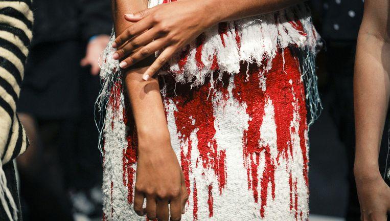 Detail van een jurk van Karim Adduchi. Beeld TEAM PETER STIGTER