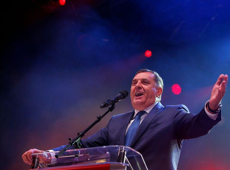 De leider van de Bosnische Serven, Milorad Dodik. Beeld AP