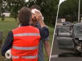 Luk Alloo helpt gewonde bestuurder tot ambulance arriveert