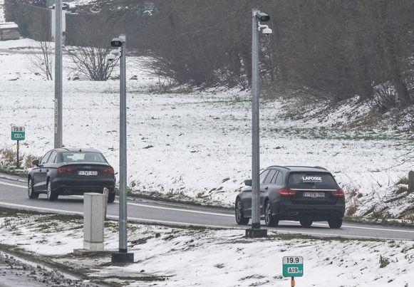Op de A19 in Wervik hingen al camera's.